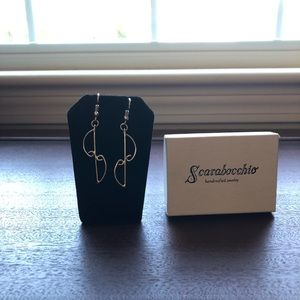 Scarabocchio Handcrafted Silver Drop Earrings